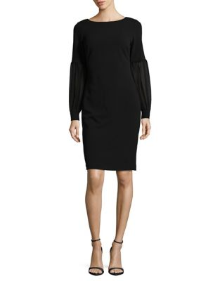 Mesh Detail Sheath Dress by Calvin Klein
