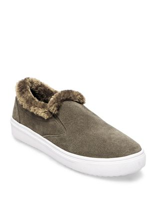 Cuddles Faux Fur Suede Sneakers by Steven by Steve Madden