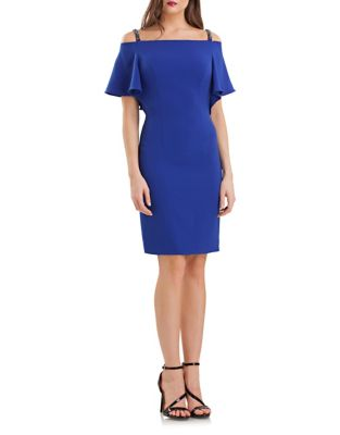 Flutter Cold-Shoulder Dress by Carmen Marc Valvo Infusion