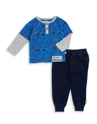 Baby Boys TwoPiece Constellation Top and Pants Set