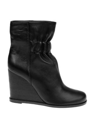 Rebecca Leather Wedge Booties by Splendid