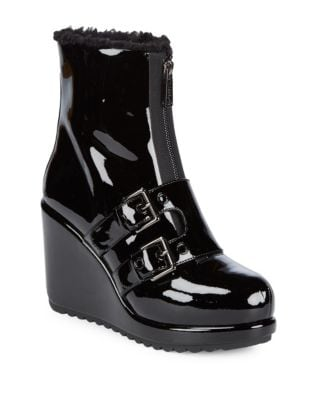 Hope Patent Leather Wedge Booties by Marc Jacobs