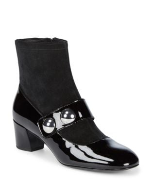 Margaux Patent Leather Booties by Marc Jacobs