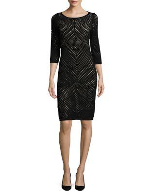 Laser-Cut Bodycon Dress by Calvin Klein