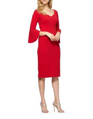 Petite V-Neck Sheath Dress by Alex Evenings