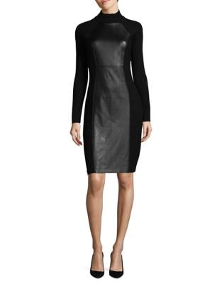 Rib-Knit Bodycon Dress by Calvin Klein
