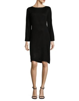 Studded Sheath Sweater Dress by Calvin Klein