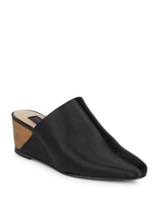 Mercer Leather Wedge Mules by Donna Karan