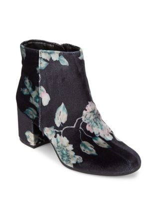 Photo of Vikki Floral Velvet Booties by Circus by Sam Edelman - shop Circus by Sam Edelman shoes sales