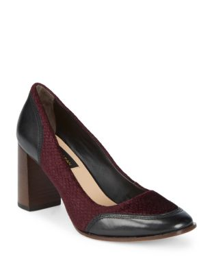 Shelby Leather and Textile Pumps by Donna Karan