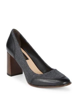 Shelby Leather and Wool Pumps by Donna Karan