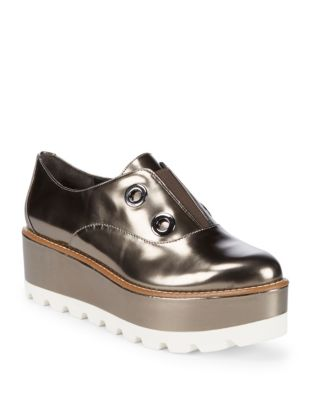 Uri Leather Oxfords by Donna Karan