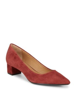 Genovea Suede Pumps by Calvin Klein