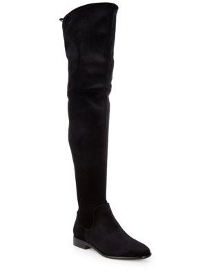 Lyra Velvet Over-The-Knee Boots by Donna Karan