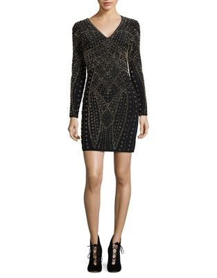 Beaded Bodycon Dress by Xscape