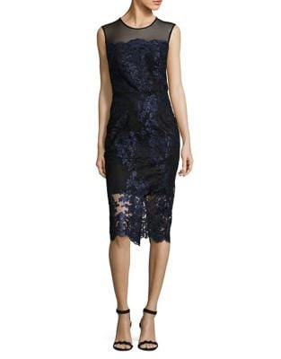 Floral Lace Bodycon Dress by Xscape