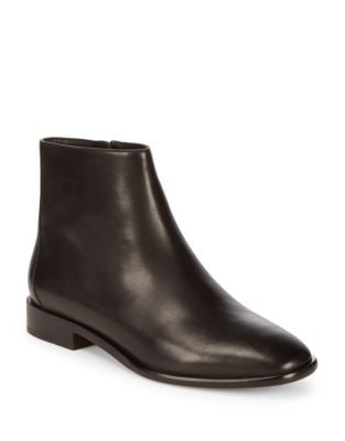 Lilit Leather Booties by Donna Karan