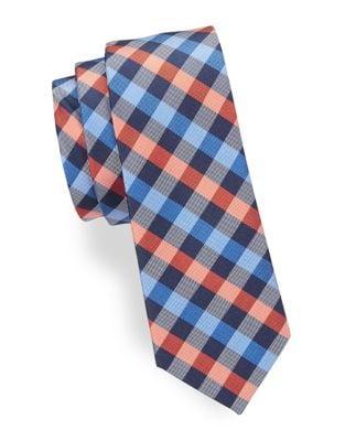 Boys Checkered Silk Tie