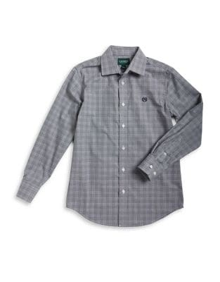 Boy's Plaid Dress Shirt 500087547934