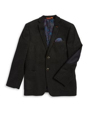 Boys Checkered Blazer