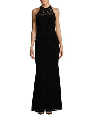 Halterneck Sleeveless Gown by Nicole Miller