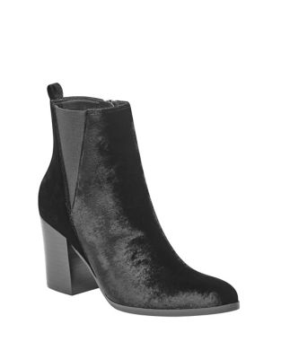 Adel Velvet Booties by Ivanka Trump