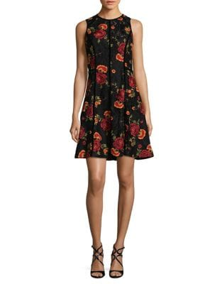 Pleated Lace Fit-&-Flare Dress by Laundry by Shelli Segal