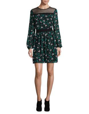 Printed Long-Sleeve Mini Dress by Mika & Gali