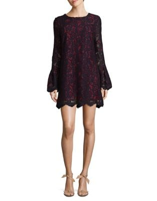 Bell Sleeve Lace Dress by Wayf