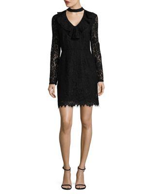 Petite Lace Choker Dress by Wayf