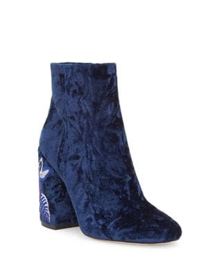 Wazlin Velvet Booties by Jessica Simpson