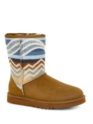 Buy Classic Short Pendleton Shearling-Lined Boots by UGG online