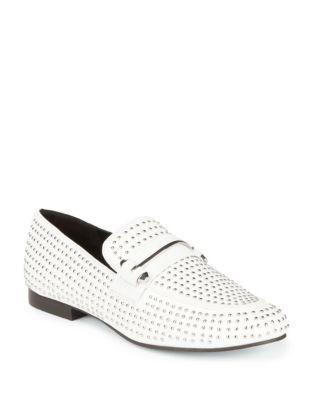 Kast Leather Stud Loafers...