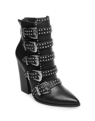 Comet Leather Booties by Steve Madden