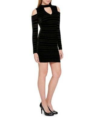 Cold Shoulder Mini Dress by Guess