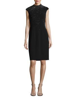 Studded Sheath Dress by Eliza J