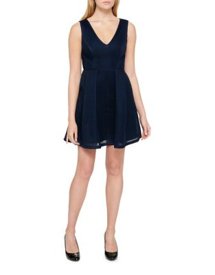 Sleeveless Fit-&-Flare Dress by Guess