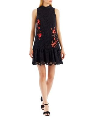 Floral Lace A-Line Dress by Nicole Miller New York