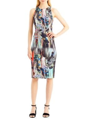 Multi Print Sheath Dress by Nicole Miller New York