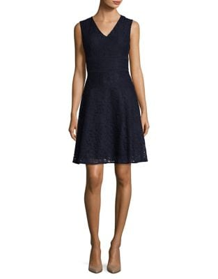 Corded Lace Fit-&-Flare Dress by Tommy Hilfiger