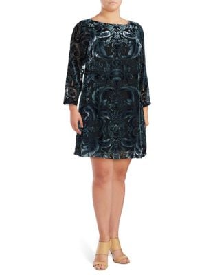 Plus Velvet Lace Dress by Vince Camuto