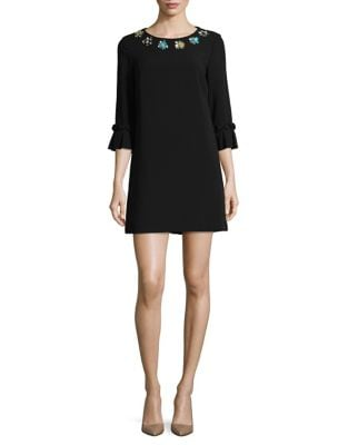 Ruffle-Sleeve Mini Dress by Tahari Arthur S. Levine