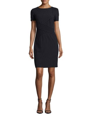 Pinstripe Sheath Dress by Tahari Arthur S. Levine