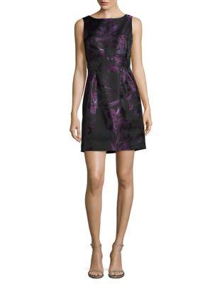 Petite Floral Metallic Fit-&-Flare Dress by Tahari Arthur S. Levine