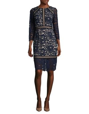 Floral Embroidered Sheath Dress by Vince Camuto