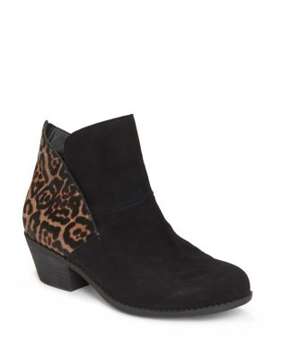 Zena Suede Booties with Calf Hair by Me Too
