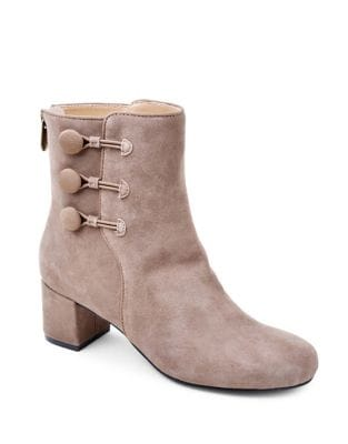 Luretta Suede Booties by Adrienne Vittadini