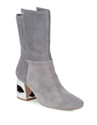 Ryan Suede Mid-Calf Boots by H Halston