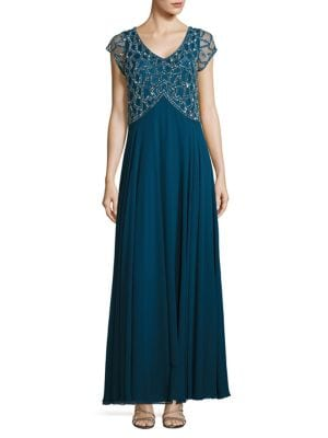 Petite Beaded Empire Gown by J Kara