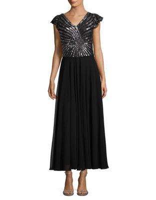 Petite Sequin Embellished Sheath Dress by J Kara